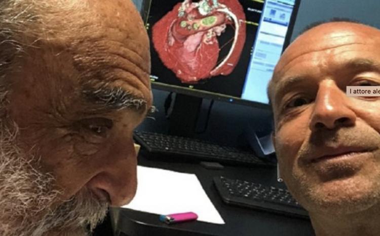 L'attore Alessandro Haber in cura alla clinica Montevergine
