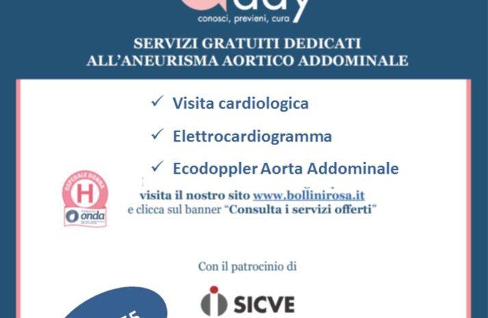 Open day: aneurisma aortico addominale – 29 settembre 2021